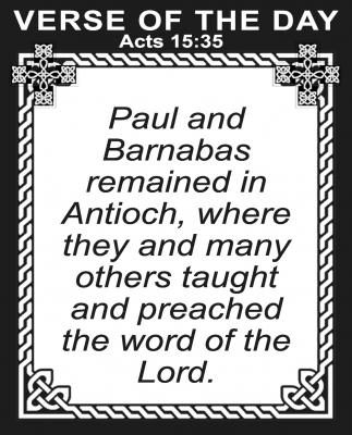 Acts 15:35