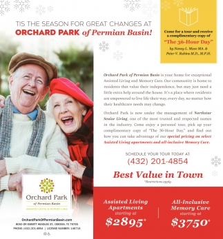 Tis The Season For Great Changes At Orchard Park Of Permian Basin!