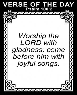 Psalm 100:2