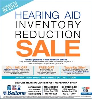 Hearing Aid Inventory Reduction Sale