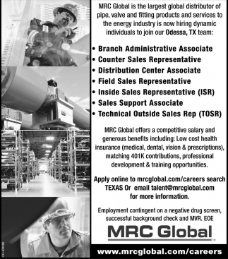 Apply Online Mrc Global