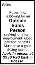 Outside Sales Person