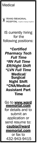 Is Currently Hiring For The Following Positions:
