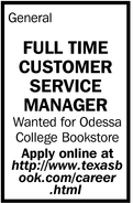 Full Time Customer Service Manager