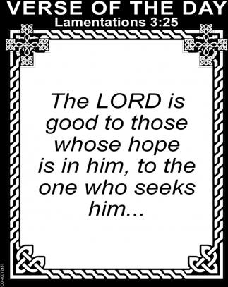 Lamentations 3:25