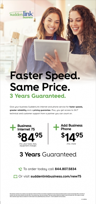 Faster Speed- Same Price.