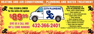 Plumbing And Water Treatment City Plumbing Tx