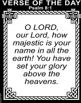 Psalm 8:1