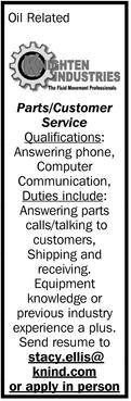 Parts/Customer Service