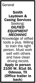 Oilfied Equipment Mechanic