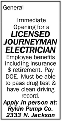 Licensed Journeyman Electrician