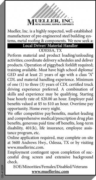 Local Driver / Material Handler