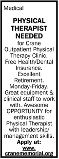 Physical Therapist Needed