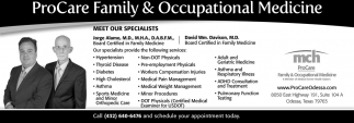 Procare Family And Occupational Medicine Mch Procare