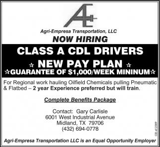 Class A CDL Drivers
