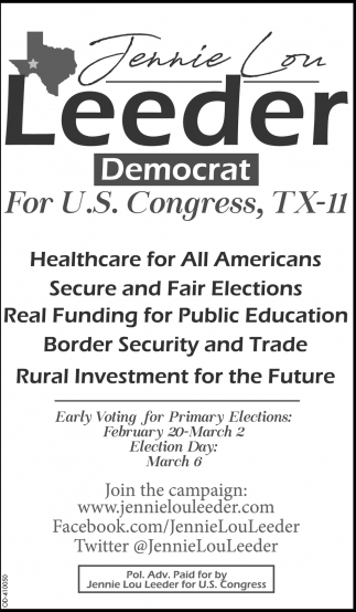 For U.S. Congress, TX-11