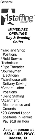 Immediate Openings Day And Evening Shifts