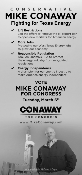 Vote Mike Conaway For Congress